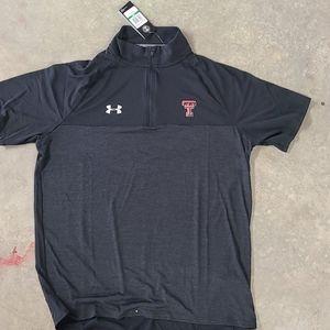 Texas Tech UA short sleeve 1/4 zip